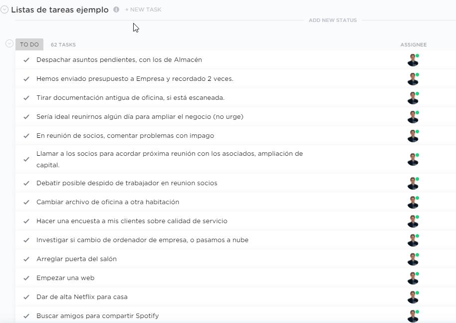 Delegar tareas ClickUp